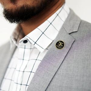 Hipster Pomade Lapel Pin