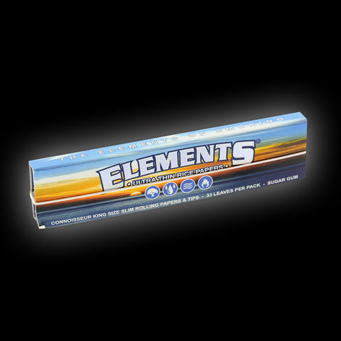 ELEMENTS CONNOISSEUR SLIM KING SIZED ROLLING PAPERS & TIPS