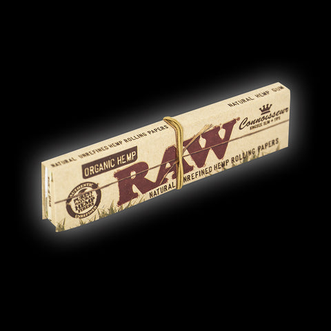 RAW ORGANIC CONNOISSEUR SLIM KING SIZED ROLLING PAPERS & TIPS