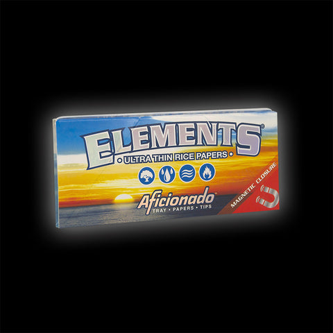 ELEMENTS AFICIONADO 1 1/4 ROLLING PAPERS & TIPS