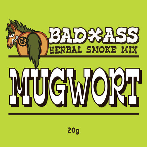 BAD-ASS MUGWORT HERBAL SMOKE MIX -20gm