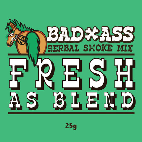 BAD-ASS FRESH AS BLEND HERBAL SMOKE MIX -25gm