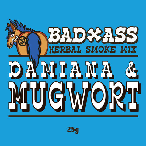 BAD-ASS DAMIANA & MUGWORT HERBAL SMOKE MIX - 25gm
