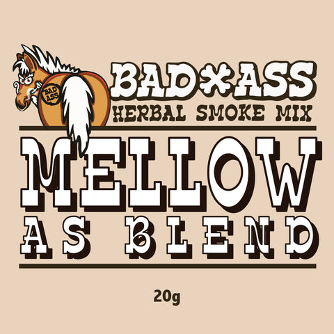 BAD-ASS MELLOW AS BLEND HERBAL SMOKE MIX -20gm