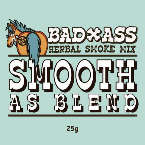 BAD-ASS SMOOTH AS BLEND HERBAL SMOKE MIX -25gm