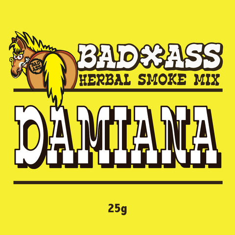 BAD-ASS DAMIANA HERBAL SMOKE MIX -25gm