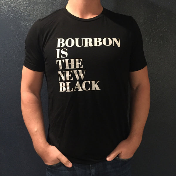 bourbon is the new black unisex crew neck tee