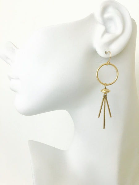 Circle Spiked Dangle Earrings