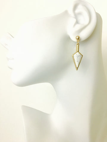 Triangle Stud Drop Earrings