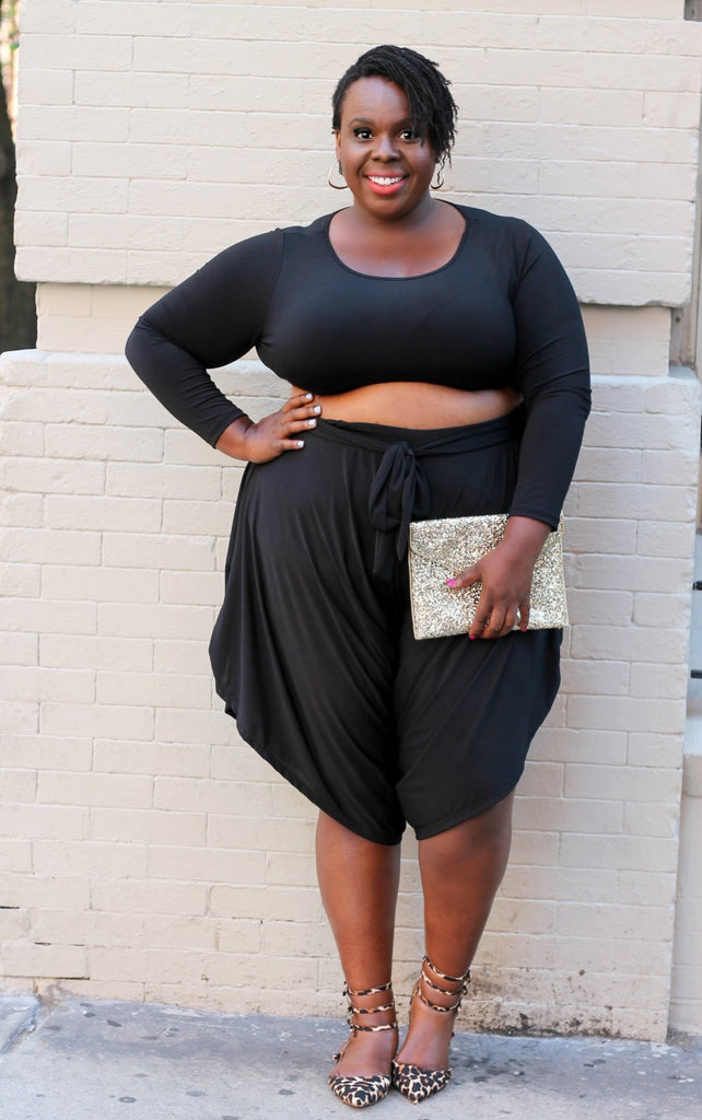 CeCe Olisa wears this Crop Capri Outfit to a summer concert