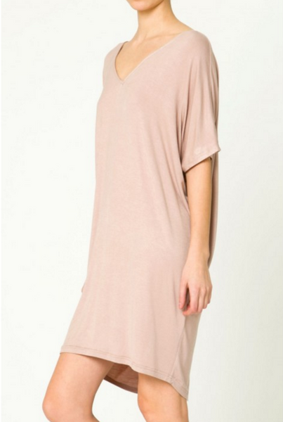 The V-NECK T SHIRT Dress