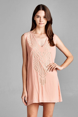 The EMBROIDERED SLEEVELESS Dress