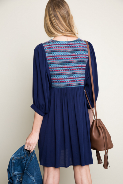 The EMBROIDERED PEASANT Dress
