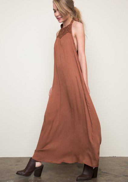 Halter Maxi Dress for Festival Season