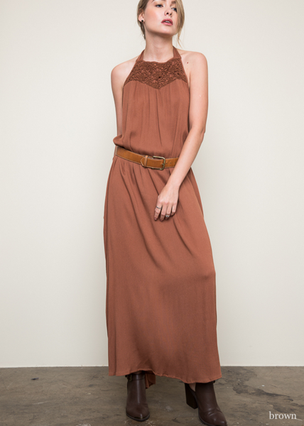 Halter Boho Chic Maxi Dress