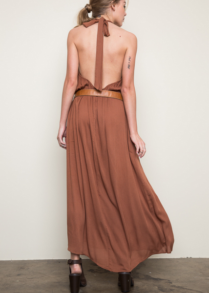 Festival Season trendy boho halter maxi dress