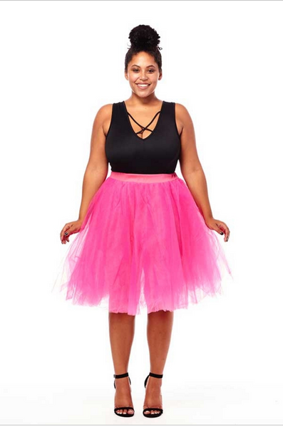 plus size pink ballerina skirt