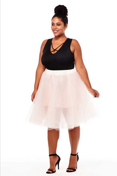 plus size blush ballerina skirt