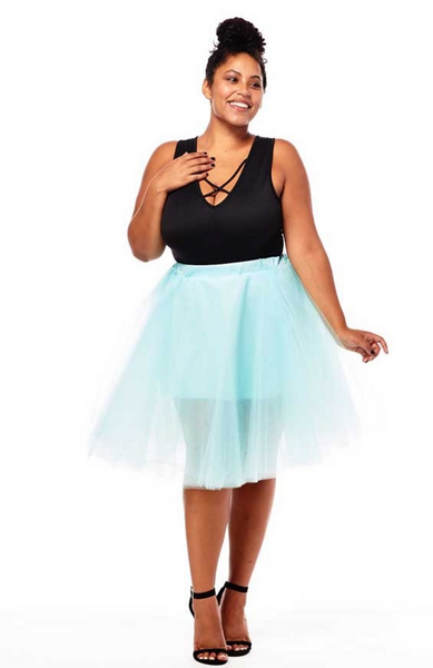 plus size teal ballerina skirt