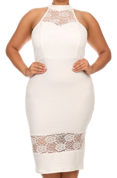 The Lace Halter Sheath Dress