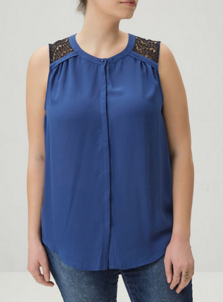 The Lace Sleeveless Blouse