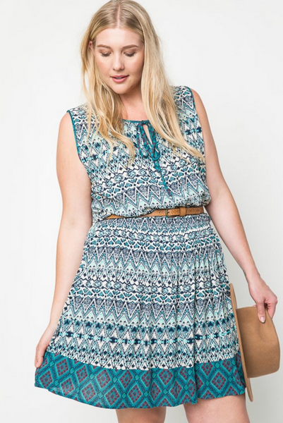The Tribal Sleeveless Dress
