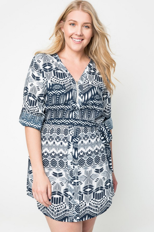 The Tribal Shirt Dress