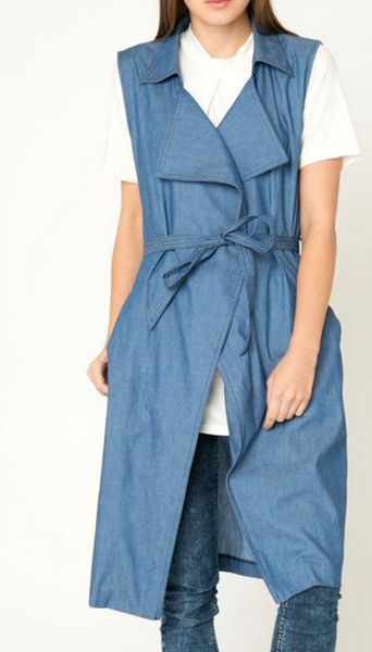 Plus Size Denim Wrap