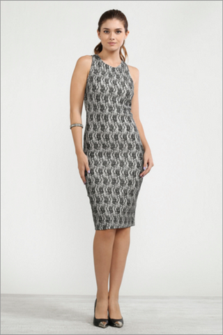 The Mesh Bonded BodyCon Dress