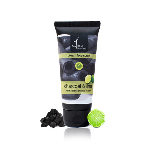 Charcoal & Lime Cream Face Scrub - Natural Bath & Body
