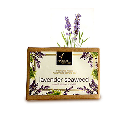 Lavender Seaweed Bathing Bar - Natural Bath & Body