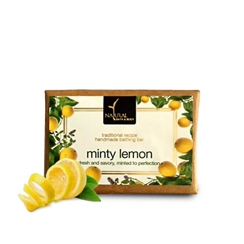 Minty Lemon Bathing Bar - Natural Bath & Body
