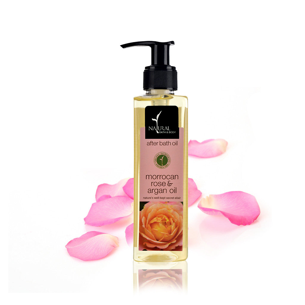 Moroccan Rose & Argan Oil After Bath Oil - Natural Bath & Body
