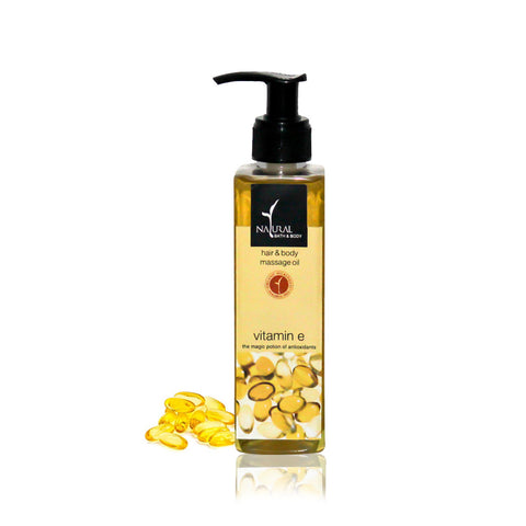 Vitamin E Hair & Body Massage Oil - Natural Bath & Body