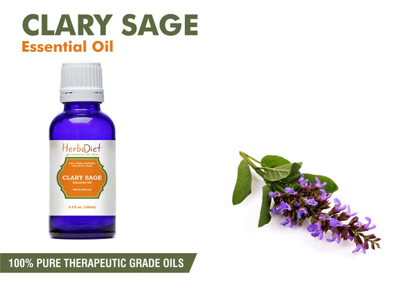 100% Pure Natural Clary Sage Essential Oil PREMIUM Therapeutic Grade Oils-herbadiet