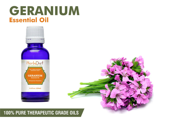 100% Pure Natural Geranium Rose Essential Oil PREMIUM Therapeutic Grade Oils