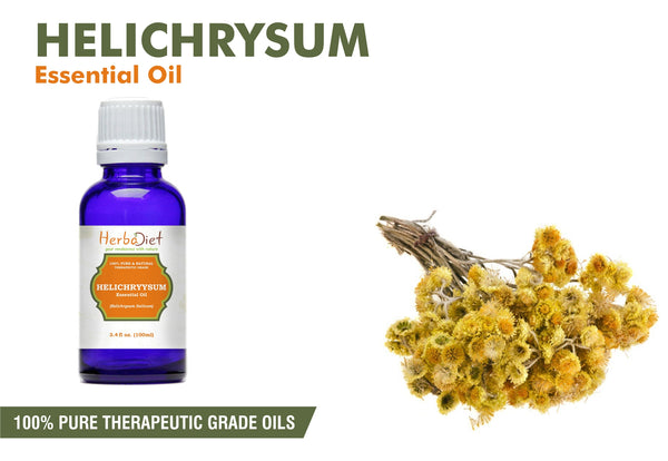 100% Pure Natural Helichrysum Essential Oil PREMIUM Therapeutic Grade Oils