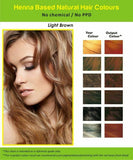 Natural Henna Hair Dye Color | No PPD, No AMMONIA | Light Brown