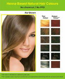 Natural Henna Hair Dye Color | No PPD, No Ammonia | Nut Brown