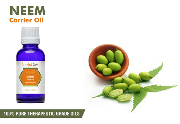 Neem Oil 100% Pure Natural Undilluted Uncut Cold Pressed Azadirachta Indica Oil-herbadiet