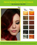 Natural Henna Hair Dye Color | No PPD, No Ammonia | Red Wine/Mahagony