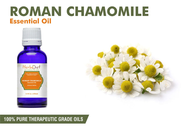 100% Pure Natural Chamomile Roman Essential Oil PREMIUM Therapeutic Grade Oils-herbadiet
