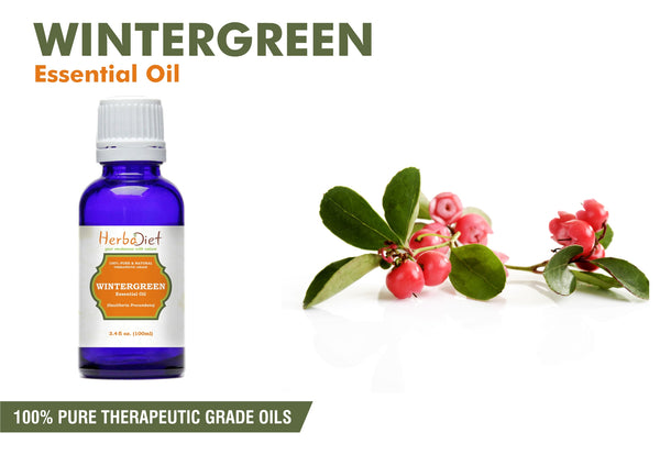100% Pure Natural Wintergreen Essential Oil PREMIUM Therapeutic Grade Oils
