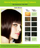 Natural Henna Hair Dye Color | No PPD, No Ammonia | DARK BROWN
