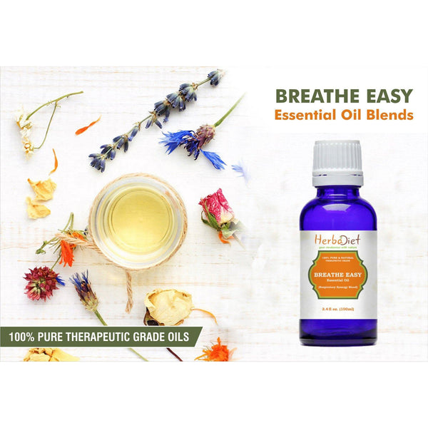 Essential Oil Blends - Breathe Easy Essential Oil Blend Respiratory Synergy Pure Therapeutic Grade Oils