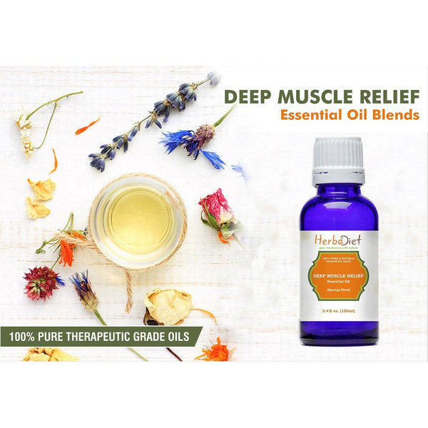 Essential Oil Blends - Deep Muscle Pain Relief Essential Oil Blend 100% Pure Therapeutic Grade Oils
