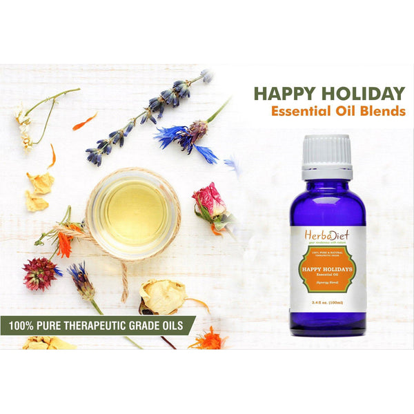 Essential Oil Blends - Happy Holiday Season Joy Cheer Essential Oil Blend Pure Therapeutic Grade Oils