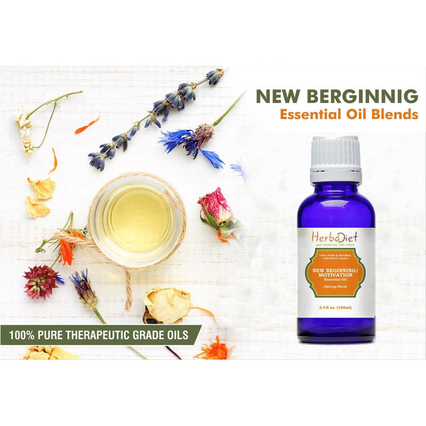 Essential Oil Blends - New Beginning Motivation Uplift Essential Oil Blend Pure Therapeutic Grade Oils