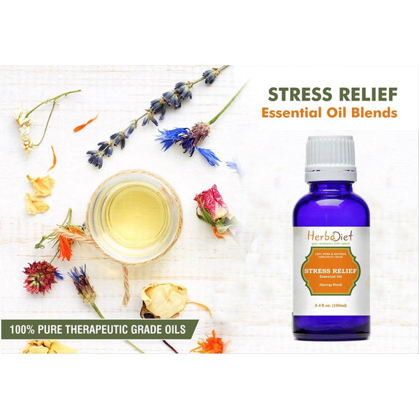 Essential Oil Blends - Stress Relief Essential Oil Blend 100% Pure Therapeutic Grade Aromatherapy Oils