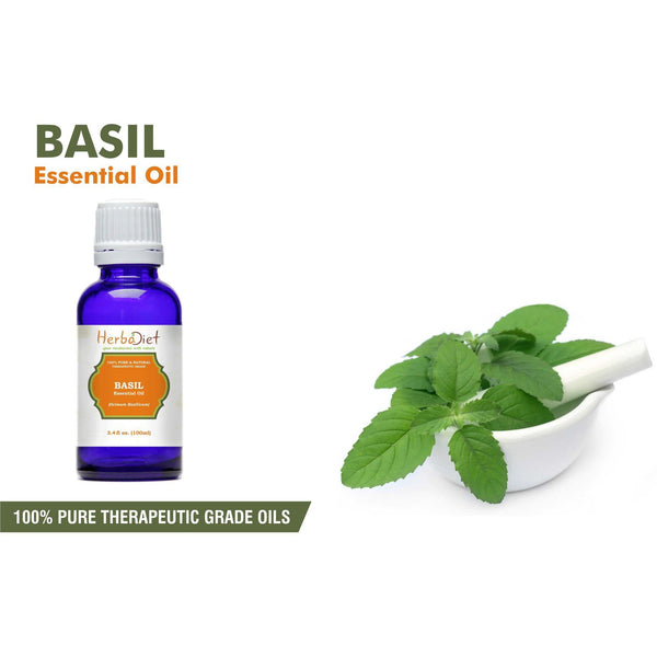 Essential Oil Singles - Basil Essential Oil 100% Pure Natural PREMIUM Therapeutic Grade Oils